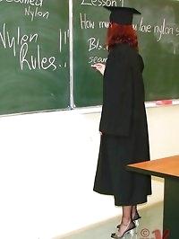sexy stocking teacher strips