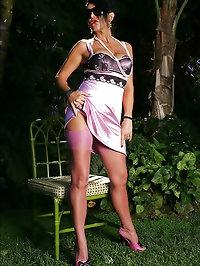 Hottie in exciting purple lingerie