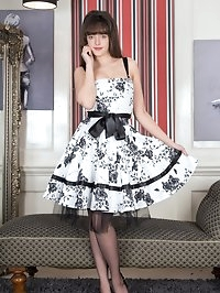 Kate Anne is thrilled to be in a nice full skirted frock,..