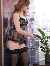 Beautiful Luca Bella seduces her man