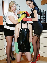 Kinky housewives love strap-on play