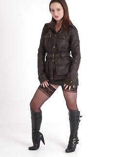 Leather Nylon Babes