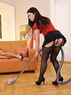Maid Nylon Babes